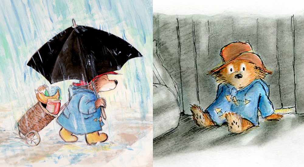 Paddington Bear watercolor