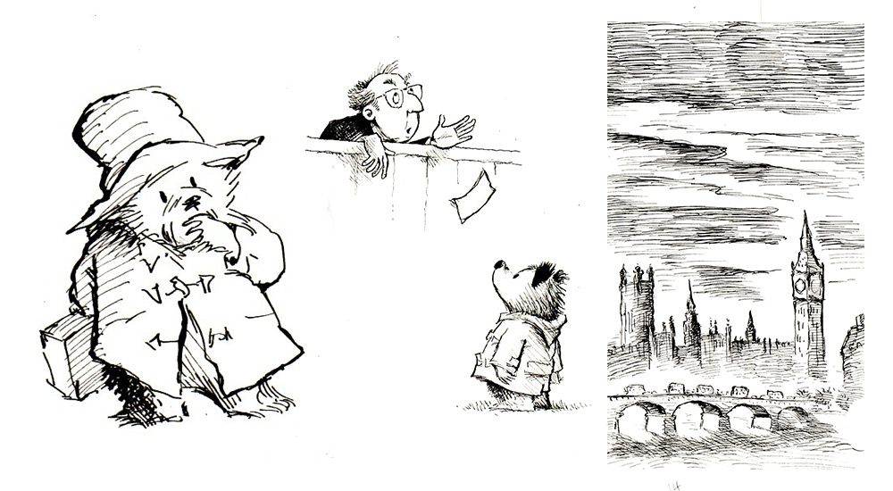 Paddington Bear Line Drawings